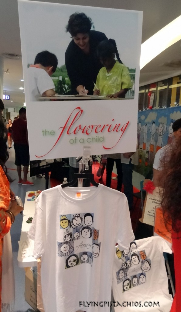 Flowering of a Child - T-shirts sold on site to raise funds for Child@Street 11