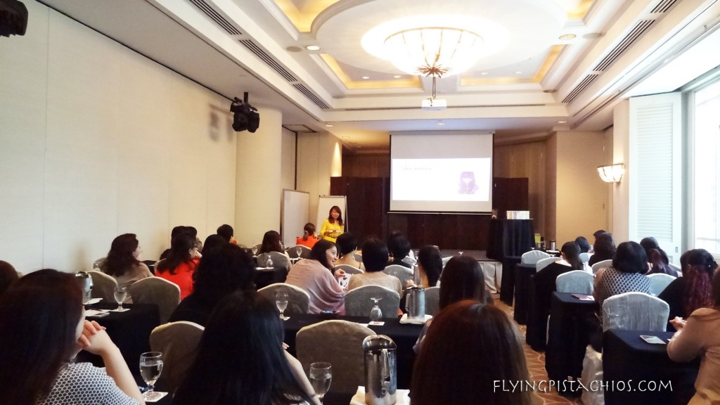 In the ballroom with a Secretive representative giving a overview of the company and introducing today's products on offer