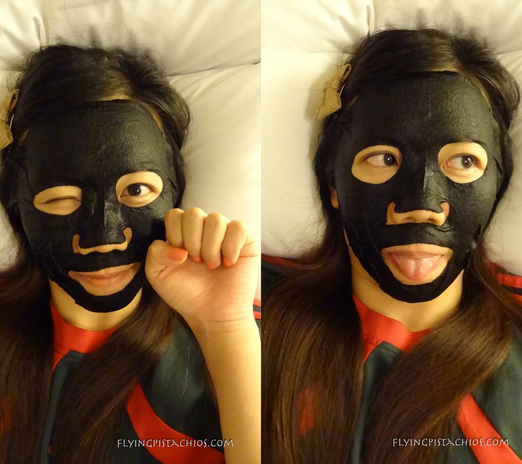 Selfies - Love the velvety smoothing feeling of the black cotton mask on my face!