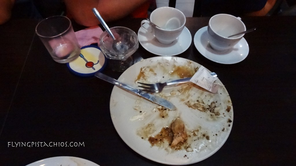 This is Shawn's mess. Obviously, he spilt his drink. Whose table looks cleaner? Shawn's or mine? Let me know! :D