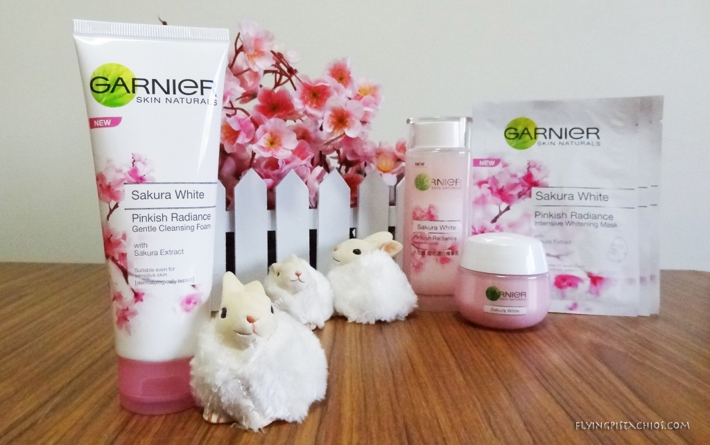 The Garnier Sakura White Pinkish Radiance Gentle Cleansing Foam with Sakura Extract