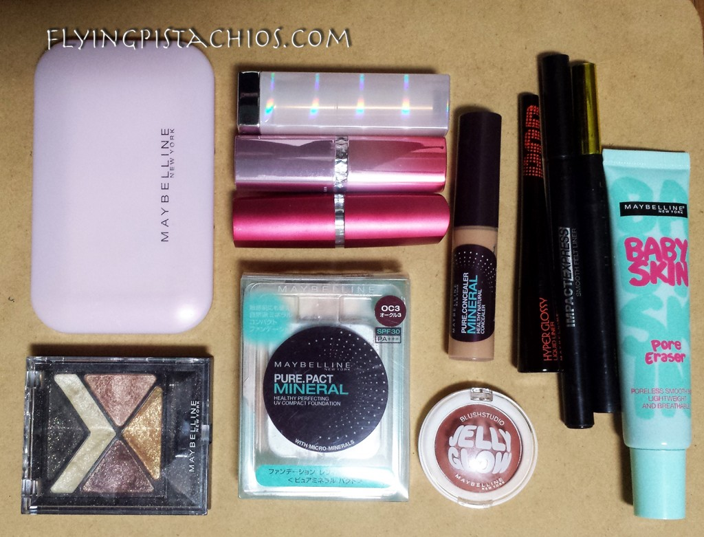 Just SOME of the Maybelline products I have (and am still using!)