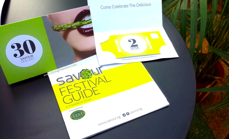 The 2 more important things you will receive at the entrance:  Your Savour Festive Guide and your $30 Savour Dollars :)