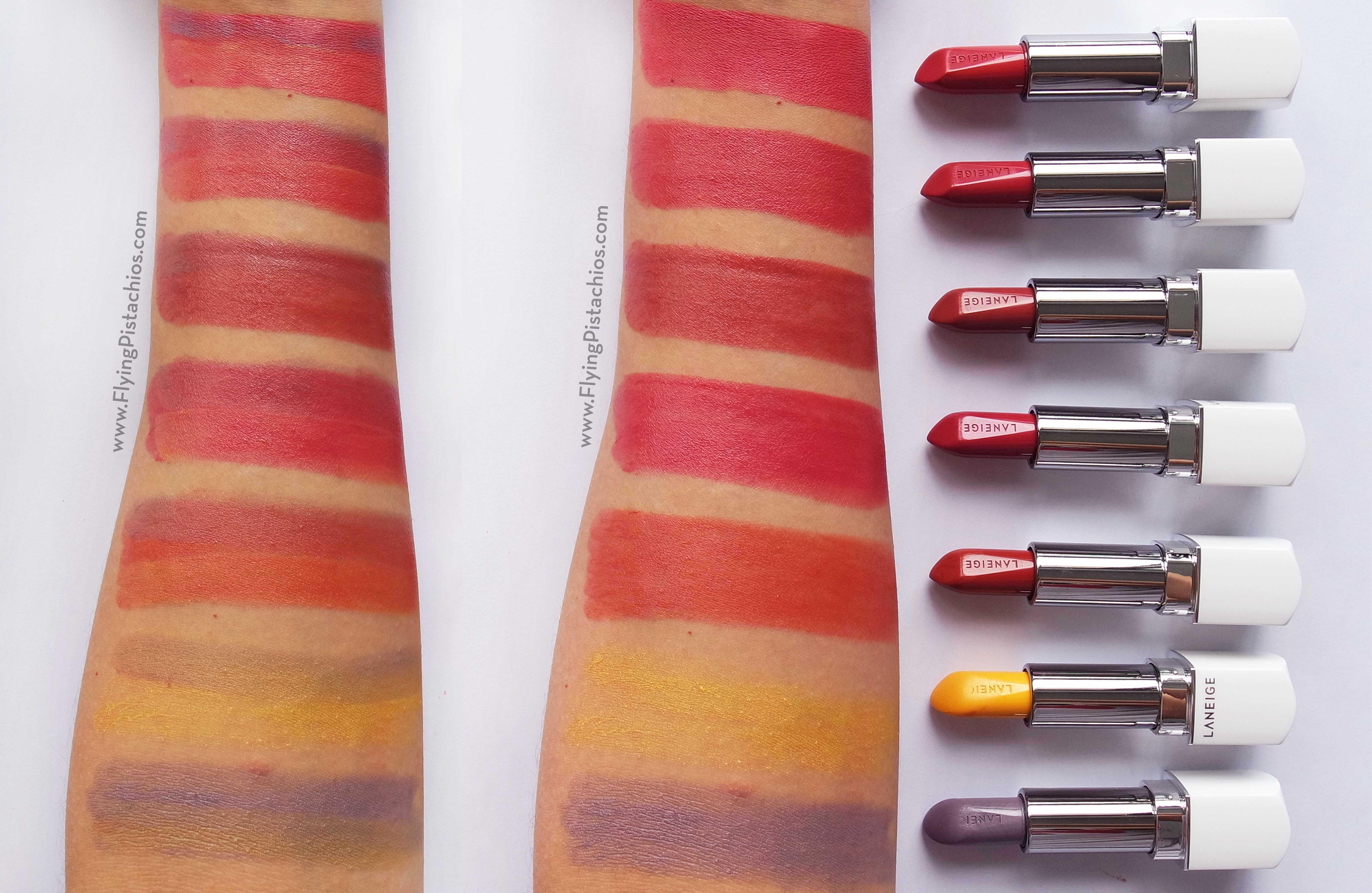 Silk Intense Lipstick Swatches