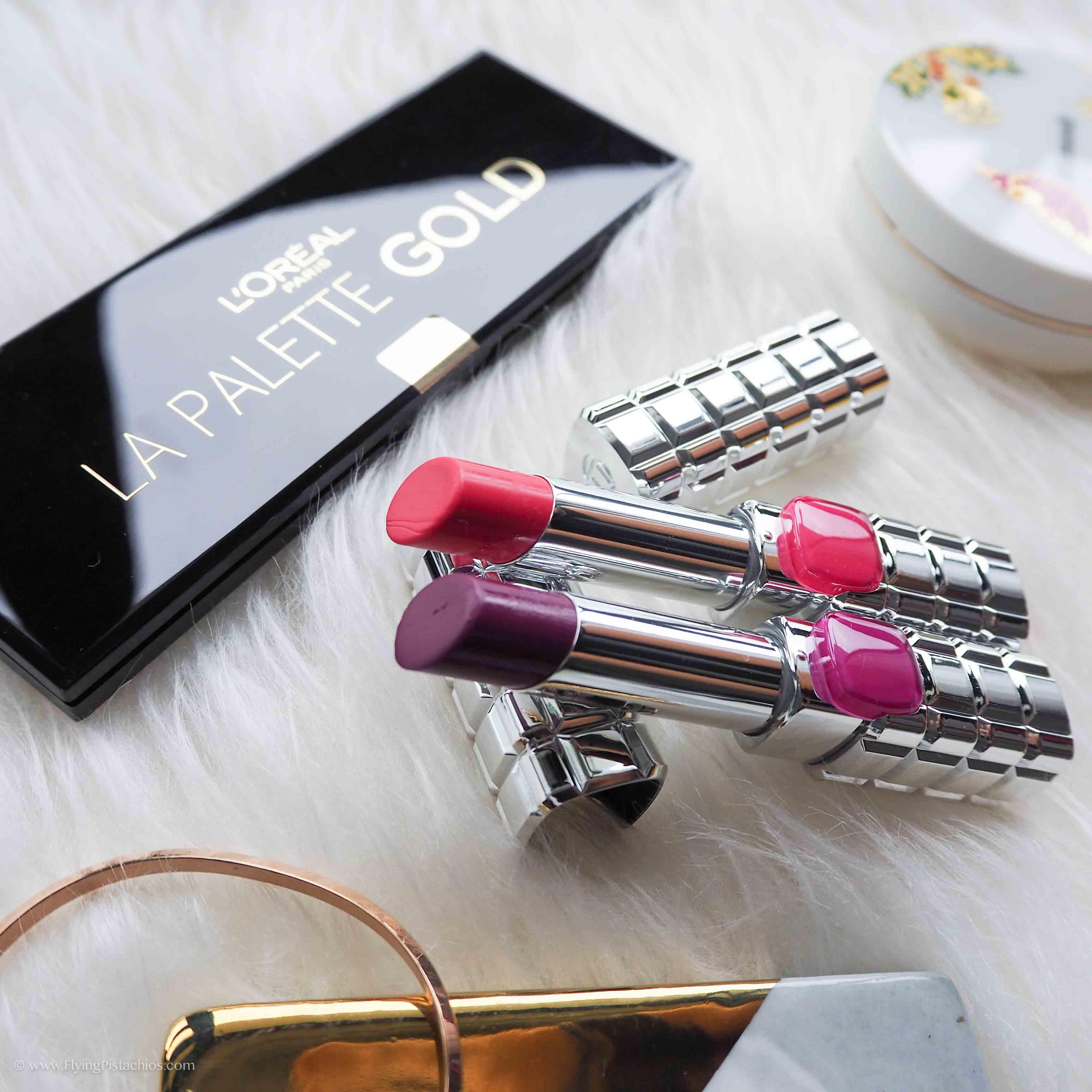 Loreal Color Riche Shine lipsticks